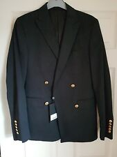 Pretty Green  Rare  Black Military Boating Blazer. RRP  £425