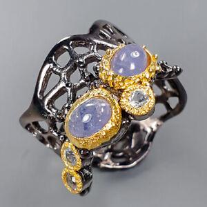 Handmade SET Tanzanite Ring Silver 925 Sterling  Size 7 /R151541