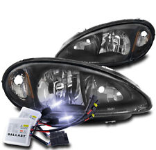 FOR 01-05 CHRYSLER PT CRUISER REPLACEMENT HEADLIGHTS LAMP BLACK W/10000K HID KIT