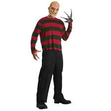 Freddy Freddie Krueger Shirt and Mask Official Nightmare Halloween Fancy Dress