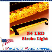 Amber 54 LED Traffic Advisor Double Side Emergency Warn Flash Strobe Light Bar
