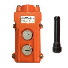 Hoist Crane Pendant Pushbutton Switch Up-Down Station Heavy Duty Rainproof  Tool