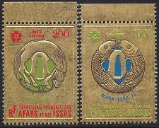"1970 AFARS & ISSAS PA N°64/65** Bdf ""Or"" poisson & cheval, Gold fish & horse MNH"