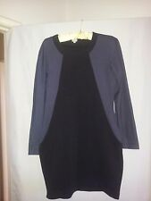 Ladies gorgeous winter dress black and grey size 10 very smart career wear