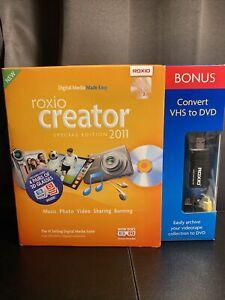 Roxio Creator 2011 Special Edition - VHS Video8 Hi8 Home Movies DVD USB Transfer