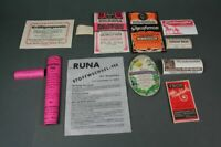 11  Apotheker Schachtel Etiketten - TOP Zustand   ~1920  (1)    /S17