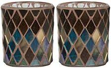 Yankee Candle Set Mit Zwei Herbst Mosaik Design Teelichtglas Halter Neu
