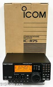Icom IC-R75 Shortwave Amateur Radio Receiver w/ Sync Detector & UT-106 & CR-282
