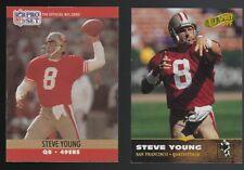 Lot of 2 Steve Young San Francisco 49ers HOF Quarterback Football Cards