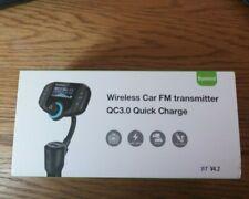 CAR FM Transmitter Wireless Radio 1.7 Inch Display, QC3.0 QUICK CHARGE