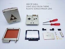 Luz de oro Zelda Nintendo Shell Game Boy Advance SP Repuesto Carcasa Gba caso