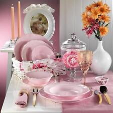 Kütahya Porselen LAR Rosa Natur Ceramik Geschirrset 24-tlg. 6 Personen Set
