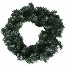 PMS Christmas Artificial 18' (46cm) Undercoated Wreath - 120 Snowy Tips