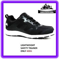 WOMENS GIRLS SAFETY  LIGHT WEIGHT LOW SKATER  TRAINERS  BLACK SHOES  SZ 3 -9