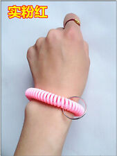 50pcs Spiral Wrist Coil Key Chains / New in Sealed Bag / Free shipping pink A14