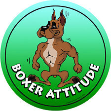 Dog Boxer Magnetic Car Decal - Made In USA - Attitude Collection - Boxer