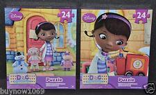 DISNEY DOC MCSTUFFINS PUZZLE 2 BOX SET GIRL JIGSAW CHRISTMAS GIFT SANTA GIFT NIP