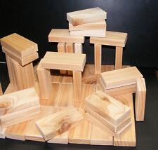 52 Piece Domino Size Toy Building Blocks - Western Cedar & Made in Oregon, USA