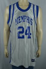 Reebok NCAA Memphis Silver & Blue Basketball Jersey Men's Sz Large Printed