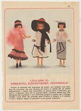 PUBBLICITA' ADVERTISING WERBUNG 1977 LOLA ANNI '30 BAMBOLA