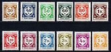 Germany / Bohmen und Mahren - 1941 Official numerals Mi. 1-12 MNH