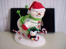 "NEW! 2012 HALLMARK ""SWOOSHIN' DUO"" SNOWMAN PENGUIN~""JINGLE BELLS"" MUSIC & MOVES"