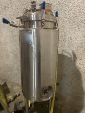 50 Gallon Precision Stainless Steel Jacketed Tank Pressure Tank Mix 50 Psi @300f