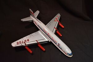 TWA Boeing 707 Friction Powered Tin Litho Jet Airplane Japan Trans World Airline