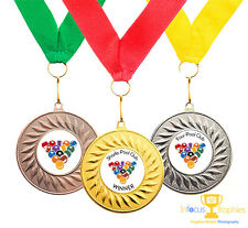 10 x Sport Medals Award for Rugby, Go Karting, Karate, Gymnastics, Pool, Archery