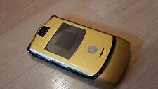 Motorola RAZR V3  in Gold / mit Folie / Klapphandy / simlockfrei **TOPP**