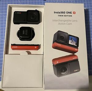 Insta360 ONE R Twin Edition 360 5.7k Action Camera Inc Two Lenses & accessories