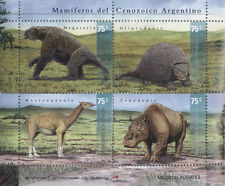 ARGENTINA 2001 PREHISTORIC ANIMALS, DINOSAURS - MNH  S/S (1)