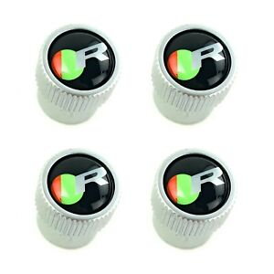 Jaguar R Performance Logo Tire Wheel Valve Stem Dust Caps Set Genuine C2C39771