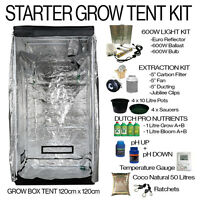 HYDROPONICS GROW TENT KIT WITH HIGH POWER FAN & CARBON FILTER