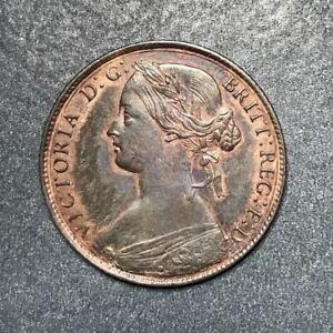 1860 Great Britain Queen Victoria Penny AU/Unc