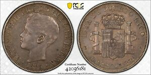 1895-PG-V Puerto Rico Peso PCGS XF45