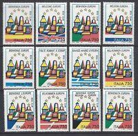 Italia Repubblica 1993 Valori da Foglietto Europa Unita MNH**