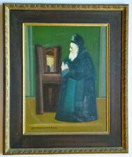 Goldberg Avraham Jewish Painter RABBI Israel Paris Art Signed Oil Judaica Artist