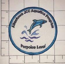 Allentown Jcc Aquatics Program Patch - Porpoise Level - Jewish Community Center