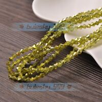 (105 Colors) 100~1000pcs 3mm Bicone Faceted Crystal Glass Loose Spacer Beads