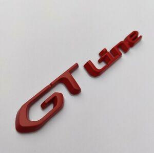 Gt Ligne Rouge Métal Badge Autocollant Emblème Pour Peugeot Rifter 108 207 cc Sw