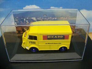 DIORAMA STYLE ROUTE BLEUE CITROËN HY H RICARD tour de France boite vitrine 1/43