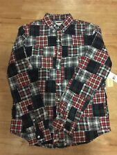 NWT Denim & Supply Ralph Lauren Patchwork Shirt Button Down Mens M Tartan Plaid