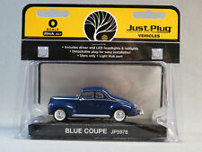WOODLAND SCENICS JUST PLUG VEHICLES BLUE COUPE O GAUGE car train 5978 NEW