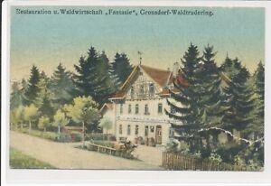 Restauration u Waldwirtschaft Fantasie Gronsdorf Waldtrudering 1913