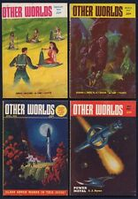 4 Iss. OTHER WORLDS Science Fiction Pulp Magazine—Feb, Mar, Apr, May 1953, Fine