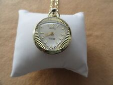 Swiss Made Heritage Vintage Wind Up Necklace Pendant Watch