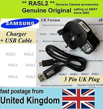 Genuine Samsung charger SAC-48 + EA-CB5MU05E USB cable EX2f MV800 ST66 ST150F