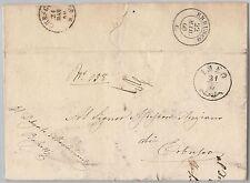 ITALIA REGNO storia postale - BUSTA da ISEO a ERBUSCO spedita in FRANCHIGIA 1860