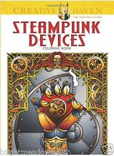 Steampunk Devices Adult Colouring Book Creative Calm Relaxing Art Therapy Zen